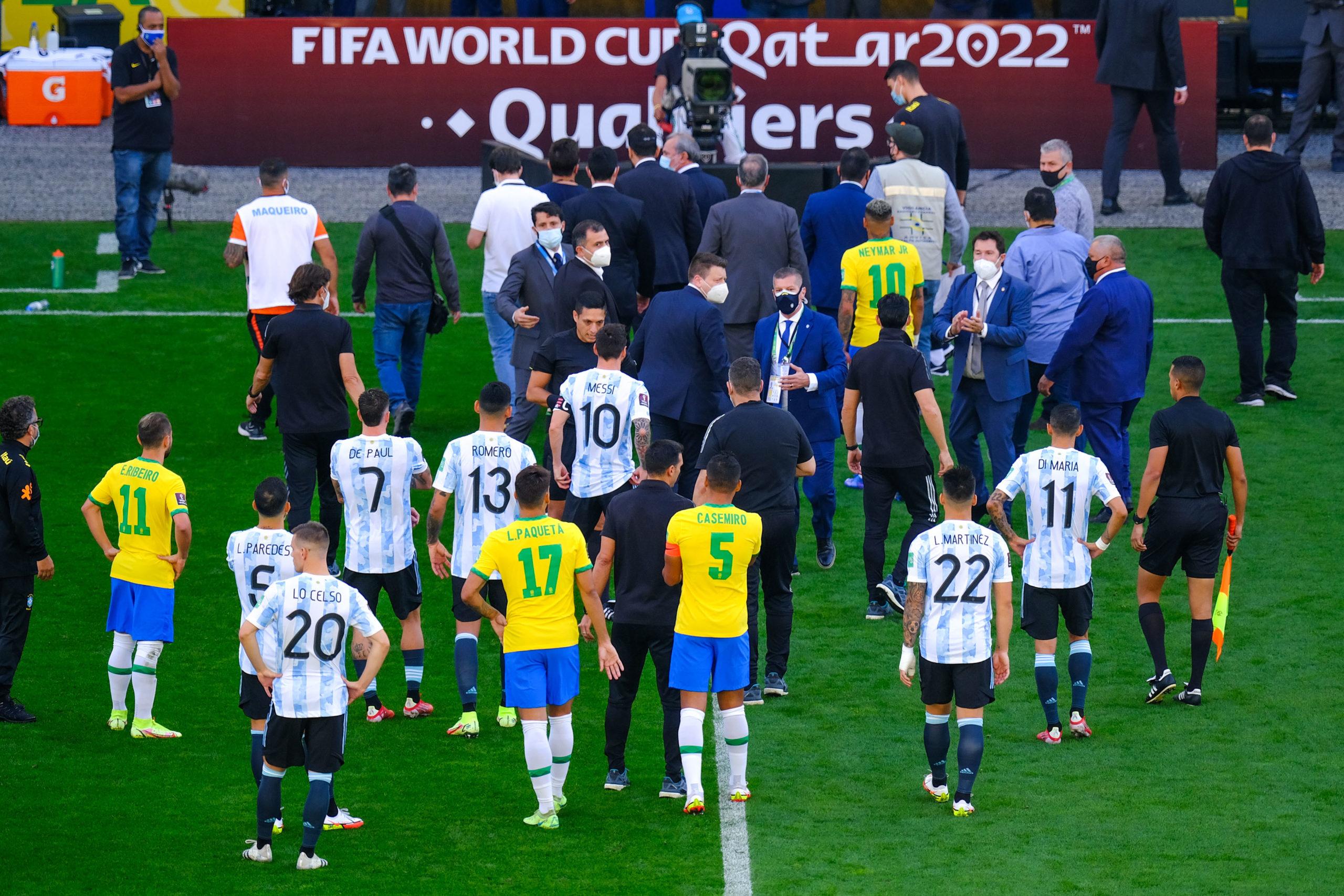 Brésil/Argentine - Match arrêté par les autorités sanitaires brésiliennes